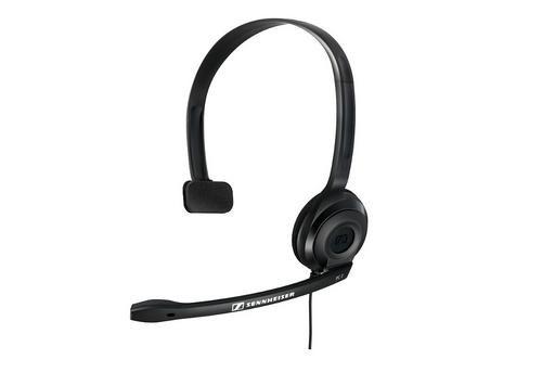 SENNHEISER PC 2 CHAT black (černý) headset - jednostranné sluchátko s  mikrofonem - Periferie a PC příslušenství - UniComputer