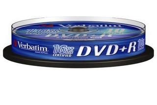 VERBATIM 43498 DVD+R 10cake 16x silver media (krabice=20x10pack)