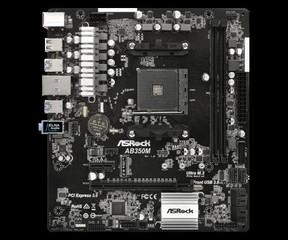 ASROCK MB AB350M (AM4, amd B350, 2xDDR4, PCIE, 4xSATA3 + M.2, USB3.0, 7.1, GLAN, mATX)