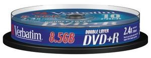VERBATIM 43666 DVD+R DL 10spindle 8x media (double layer) 8.5GB (krabice=20x10pack)