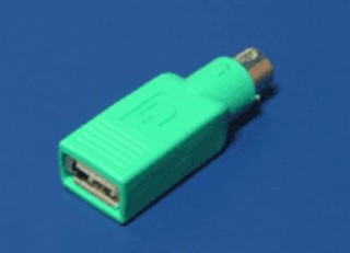 REDUKCE USB-PS2, zelená,pro připojení USB myši na PS2 port
