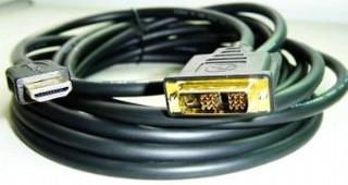 Kabel HDMI-DVI 3.0m, M/M stíněný, zlacené kontakty GEMBIRD