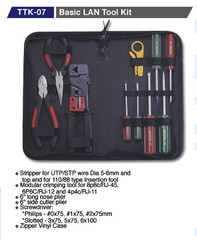 GOLDTOOL BOX TTK-07 sada nářadí 10ks (Basic LAN Tool Kit)