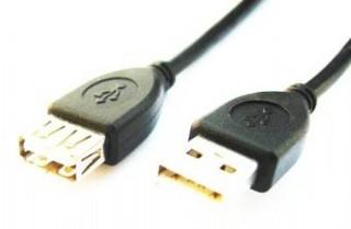 Kabel USB A-A 2.0m 2.0 prodlužovací PREMIUM HQ BLACK GEMBIRD USB2-AMAF6