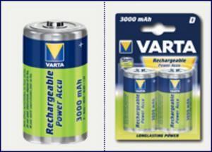 VARTA 2pack MONO/D/HR20 3000mAh nabíjecí baterie Ni-MH (Power Accu 2ks)
