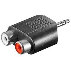 REDUKCE 1x jack3,5 M - 2x cinch(F),