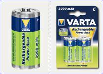 VARTA 2pack BABY/C/HR14 3000mAh nabíjecí baterie Ni-MH (Power Accu 2ks)