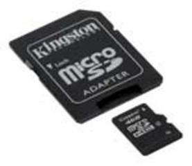 KINGSTON micro SD card SDHC 16GB class4 (+ adapter microSD na SD) (pro SDHC a SDXC zařízení)