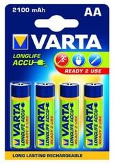VARTA 4pack AA/HR6 2100mAh nabíjecí baterie Ni-MH R2U (Longlife Accus, Ready2use)