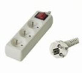 Kabel prodlužka PP3 220V 3m (3zás. + vypínač) POWERGARDEN