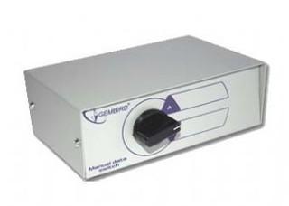 Dat.přepínač DSU-2 manuální pro 2 USB zařízení GEMBIRD (USB switch)