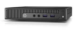 HP PC HP 260 G2 DM mini PC, Win10H, intel i3-6100U, RAM 1x4 GB, 128GB ssd, usb klávesnice a myš, bez
