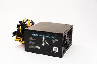 1stCOOL zdroj 550W WHITE STORM 550 85+ s aktivnim PFC, ventilátor 120mm (zdroj do PC case)