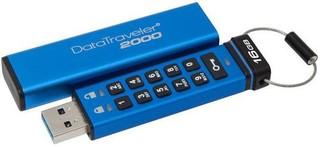 KINGSTON DataTraveler2000 16GB black USB3.0 flash drive (s klávesnicí, PINem a 256bit šifrováním)