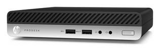 HP PC HP ProDesk 400 G4 DM mini PC, procesor G5400T, RAM 1x4 GB, HDD 500 GB, grafika Intel HD, OS Win10P64, bez WiFi, usb slim klávesnice a myš, bez MCR