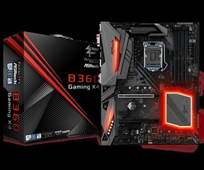 ASROCK MB B360 GAMING K4 (intel 1151 coffee lake, 4xDDR4 2666MHz, DVI +HDMI +Dport, USB3.1, 6xSATA3