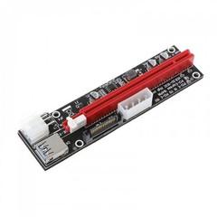 ANPIX verTRIO redukce (verze červená) PCIe x1 na PCIe x16 (pro těžbu kryptoměny) (3xCAP, 1xLED, 3 mo