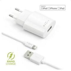 APPLE Síťová nabíječka FIXED s odnímatelným Lightning kabelem, 2,4A, bílá pro APPLE