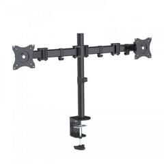 SBOX LCD-352/2 otočný stolní držák s náklonem a dvojitým ramenem pro 2x LCD 13-27
