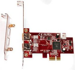 KOUWELL KW-5101 PCI-Express 2x FireWire 1394a interní karta