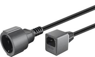 Kabel síťový prodlužovací kabel EURO 0.23m s 1 zásuvkou pro připojení do UPS