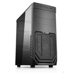 1stCOOL MiddleTower JAZZ 2, ATX black černý, bez zdroje, middletower ATX (2xUSB3+ Audio+ Ventilátor+ Transparentní bočnice) (PC case)
