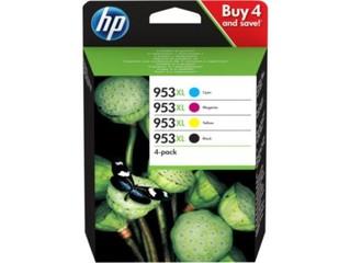 HP 3HZ52AE sada originálních náplňí č.953XL CMYB 4-pack pro HP OfficeJet 8210, 8218, 87xx atd