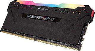 CORSAIR 16GB=2x8GB DDR4 3600MHz VENGEANCE RGB PRO BLACK s RGB LED CL18-19-19-36 1.35V XMP2.0 (RGB LED, 16GB=kit 2ks 8GB s černým chladičem