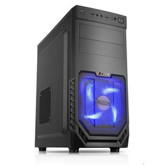 1stCOOL MiddleTower JAZZ 2, ATX black černý, bez zdroje, middletower ATX (2xUSB3+ Audio+ Ventilátor) (PC case)