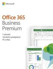 MS OFFICE 365 BUSINESS PREMIUM Czech Eurozone předplatné 1 rok 1 uživatel, (Office 365 pro firmy PREMIUM), (česká krabicová verze) 32-bit/x64 CZ, bez média