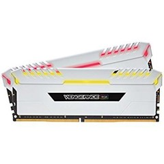 CORSAIR 128GB=8x16GB DDR4 3000MHz VENGEANCE WHITE RGB LED 1.35V CL16-18-18-36 XMP2.0 (RGB LED, 128GB=kit 8ks 16GB s bílým chladičem