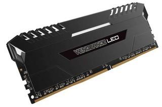 CORSAIR 16GB=2x8GB DDR4 3333MHz VENGEANCE LED LPX BLACK + WHITE LED PC4-25600 CL16-18-18-36 1.35V XMP2.0 (bílé LED, 16GB=kit 2ks 8GB s chladičem