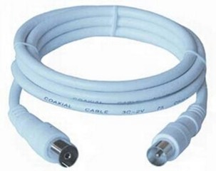 KABEL anténní TV propojovací kabel 2.0m, 75 Ohm, IEC male-female