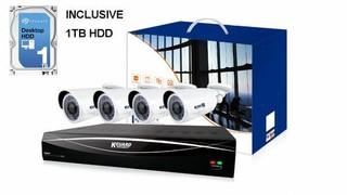 ANPIX KGUARD kompletní hybridní set, 12-ti kanálový rekordér s HDD a 4x kamera 2M barevná venkovní (ready to use)