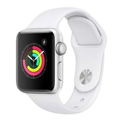 Apple Watch Series 3, 38mm GPS, Silver AC/White Sport Band (APPLE hodinky)