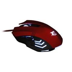 WHITESHARK myš HANNIBAL RED podsvícená (EU Version, pro hráče, červená) 3200 dpi