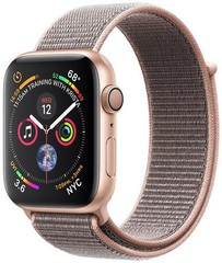 Apple Watch Series 4 GPS, 40mm Gold Aluminium Case with Pink Sand Sport Loop (APPLE hodinky)