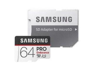 SAMSUNG micro SD card SDHC 64GB PRO Endurance class10 UHS-I U3 (+ 1x adapter microSD na SD)