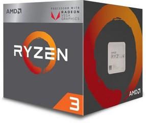 AMD cpu Ryzen 3 3200G AM4 Box s grafikou Radeon Vega 8 (s chladičem, 36GHz / 4.0GHz, 4MB cache, 65W, 4 jádro, 4 vlákno, 8 GPU), grafika, Picasso Zen+
