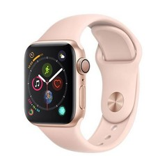 Apple Watch Series 4 GPS, 40mm Gold Aluminium Case with Pink Sand Sport Band (APPLE hodinky)