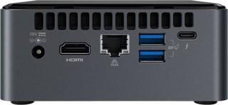 INTEL NUC 8i7BEH, i7, mini PC (výška 51mm, M.2+SATA 2.5in, Core i7-8559U) (max 3.8GHz, GLAN, HDMI+mDP, USB3.1, wifi ac 9560, Bluetooth 5.0) (model i5BEH2 s EU napájením)