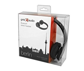 GEMBIRD sluchátka BHP-BER-W BERLIN Bluetooth stereo headset, vestavěný mikrofon bílá