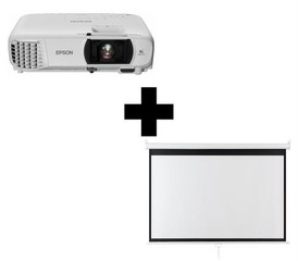 EPSON projektor EH-TW650+ plátno Aveli 200 x 125, FullHD 3100 Ansi 15000:1 WiFi