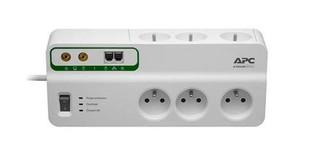 APC PMH63VT-FR SurgeArrest Home/Office, použitý, přepěťová ochrana 230V, 6 zásuvek + TEL a COAX linka