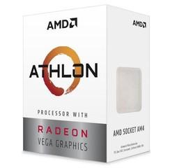 AMD cpu Ryzen 3 3000G AM4 Box s grafikou Radeon Vega 3 (s chladičem, 3.5GHz, 4MB cache, 35W, 2 jádro, 4 vlákno), integrovaná grafika, Picasso Zen+ 12nm APU