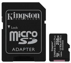 KINGSTON micro SD card SDXC 256GB class10 UHS-I U1 (+ 1x adapter microSD na SD) (pro SDXC zařízení)