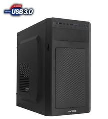 1stCOOL MicroTower STEP 3, ver.2, ATX black černý, bez zdroje, microtower mATX (2xUSB3+ Audio) (PC case)