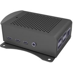RASPBERRY case Alu pro Raspberry Pi 4 B, wall, černá