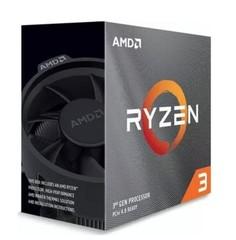 AMD cpu Ryzen 3 3100 AM4 Box (s chladičem, 3.6GHz / 3.9GHz, 16MB cache, 65W, 4 jádro, 8 vlákno, 0 GPU), Zen2 7nm APU