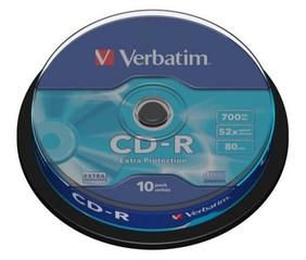 VERBATIM 43437 CD-R 10cake 52x Extra Protection media (krabice=20x10pack)